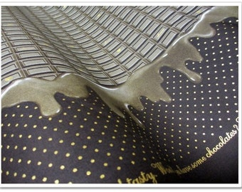 Dark Chocolate PRINT Japanese Fabric - 110cm x 50cm