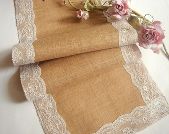 Burlap Wedding Table Runner, Eco friendly  Burlap Table Runner , Wedding Table Setting,Rustic Table Runner