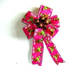 Bronze berry Christmas gift bow, Reindeer gift wrap bow, Small holiday gift bow, Bow for gift baskets and bags, Small holiday decor (C349)