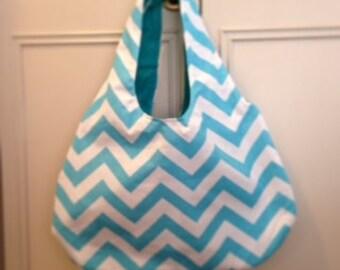 Chevron hobo shoulder bag