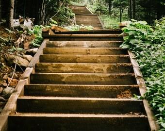 Steps at Tettegouche State Park, North Shore, Minnesota, Lake Superior, Fine Art Nature Print