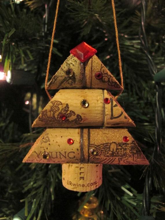 items similar to wine cork christmas tree ornament