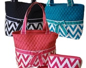 Quilted Diaper Bags - Monogrammed or Embroidered