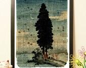 25% OFF Japanese landscape - Vintage Japan paper Dictionary Print - choose the size