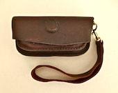 Small leather clutch / belt case, belt purse, hip bag, hip purse