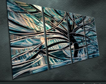 """Original Bright Metal Wall Art Modern Abstract Painting Sculpture Indoor Outdoor Decor """"Branch"""" by Ning"""