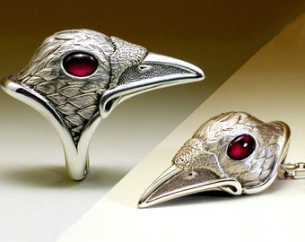 White Spirit Raven Set - Ring & Pendant together