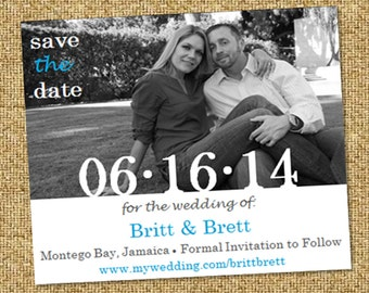 Just Us Save the Date Wedding Magnet