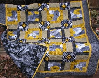 Lap Quilt - Sofa Quilt - Winter Sun