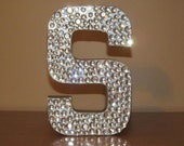 """Gorgeous Rhinestone Monogram Letters """"S"""" and Wedding Monogram, Elegant wedding decor, Wedding chair decor, Formal party 8""""12"""" 23"""""""