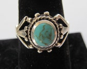 southwest sterling silver Kingman  turquoise ring