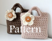 CROCHET PATTERN - Little Girls flower Purse - Listing84