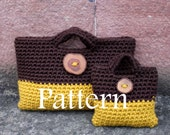 PATTERNS CROCHET - Mother and daughter matching crochet purses with buttons - Listing122