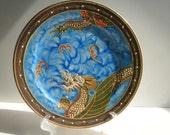 "Vintage, Moriage, Dragonware Plate, Japanese Dragonware. 7 1/4"" Plate"