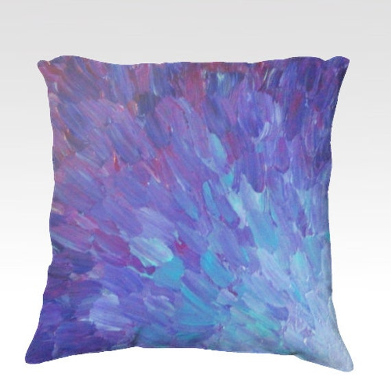 Items similar to SCALES of a DIFFERENT COLOR Purple Fine Art Velveteen Throw Pillow Cover 18 x ...