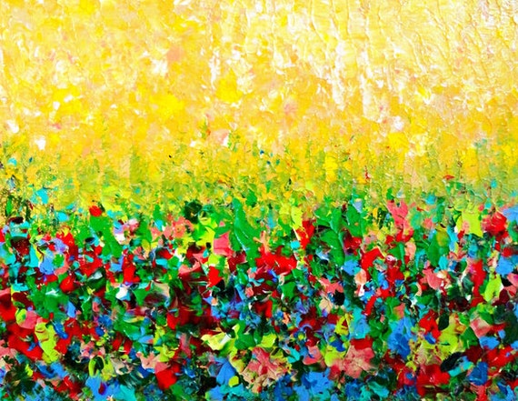 Natures living room beautiful fine art digital print bold for Bright flower painting