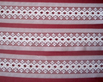 Romantic Lace Trim, Ivory, 1 3/4 inch wide, 1 yard, For Bridal, Dolls, Accessories, Home Decor, Mixed Media, Apparel, Scrapbook