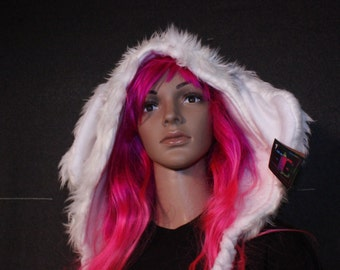 Animal Hood - White Rabbit Shortie