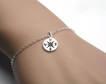 Compass Bracelet,Graduation Gifts,journey bracelet,good will bracelet,best friend gift,sisterhood gift,bridesmaid gifts,graduation gift,