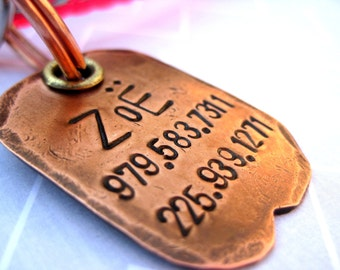 Zoe Tails: Handmade copper dog tag