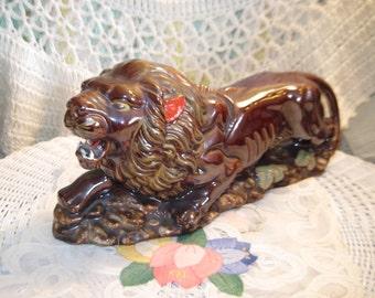 Lion, Lion Figurine, Lion, Wild Life, Wild Cats, Men Cave, Great Gift Idea, Wild Life Decor, Vintage Home Decor, Home Decor,  :)S