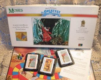 Hanna Barbera's MOSES The Great Adventure 1989, Religious Board Game, Family Game Night, Vintage Board Game, :)s*