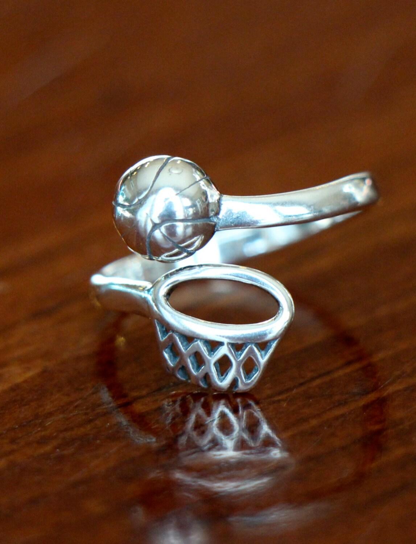 basketball ring basketball gift basketball jewelry sterling