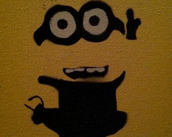 Despicable Me Minion Graffiti Stencil Art Spray Painting