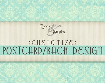 Customize - Add a Postcard or Other Back Design