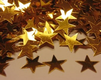 bag of large gold star confetti , 10 mm (8)