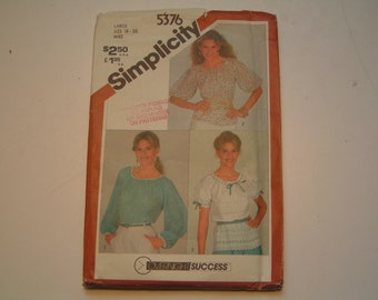 Vintage Simplicity Pattern 5376 Miss Pullover Top