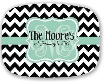 Design Your Own Personalized Melamine Platter, Monogrammed Platter, Hostess Gift, Wedding Gift, Christmas Gift, Housewarming Gift