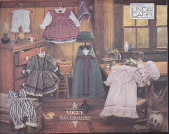 Early American Doll Clothes Collection Designed by Linda Carr for Vogue - No. 8337 - For 18 inch Dolls