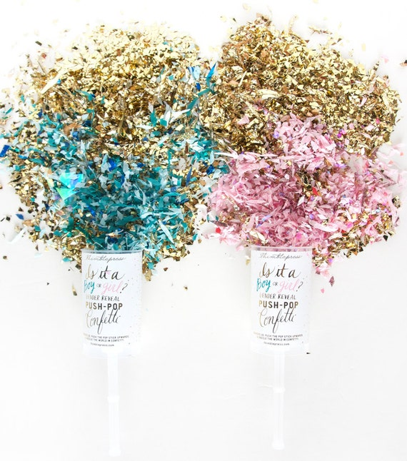 shop gender reveal confetti push pop