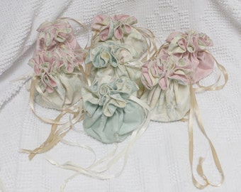 7 Custom Drawstring Jewelry Pouches - Bridesmaid gifts