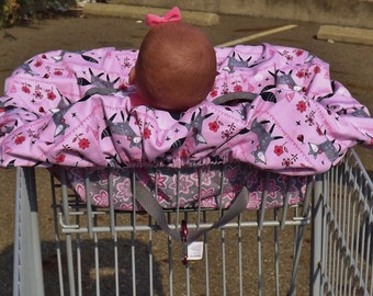 Pink Foxes Shopping Cart Cover