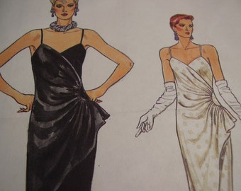 Vintage 1980's Vogue 9162 Wrap Dress Sewing Pattern, Size 8, Bust 31 1/2