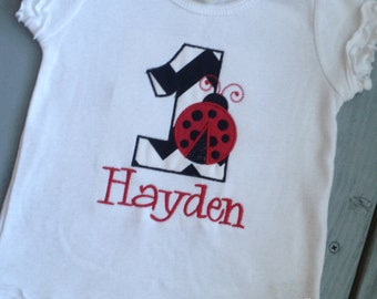 Custom Ladybug Boutique Birthday Shirt