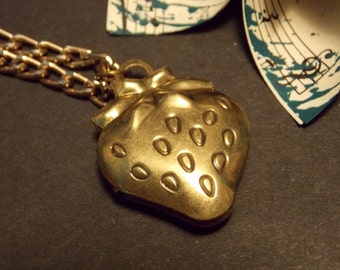Strawberry Locket Necklace