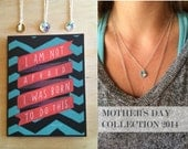 mother's day birthstone charm necklace sterling silver custom gift