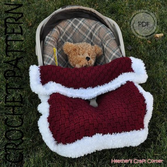 Crochet Pattern - Santa Baby Car Seat Blanket (US & UK Terms Included)
