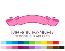 Ribbon Banner Clipart Digital Frames and Borders Clipart Label Clipart Birthday Party Clipart Wedding Clipart Invitation Clipart - A00065