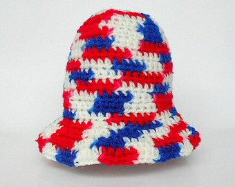 Adult Red White Blue Patriotic Teen Hat July 4 Cap Newborn To 9 12 18 Month  Boy Summer Cap 1  2 3 5 Year Old Girl Beanie Ready To Ship