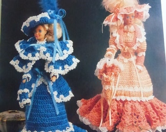 Vintage Fashion Doll Clothes  Victorian by Annie's Attic Crochet Patterns