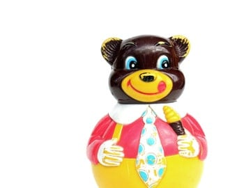 Roly Poly Vintage Bear