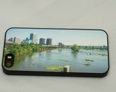 Richmond iPhone 5 5s 5c case, iPhone 4 and 4s case Richmond Va Skyline, White iPhone case, Black iPhone case, iPhone accessories