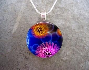Virus Jewelry - Glass Pendant Necklace - Science Jewellery - Virus 5