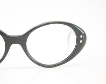 Cat Eye Glasses vintage Eyewear Retro Glasses Black