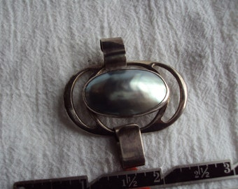 Silver Grey Shell Mystery  Piece of Jewelery