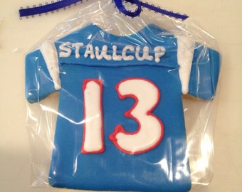 Football Jersey Cookie Favors